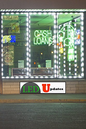 20ft Storefront Super Bright Pure White LED Light 5630 series with UL 12v 3A Power (5630 Series)