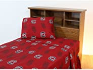 College Covers South Carolina Gamecocks Printed Sheet Set - Twin X-Large - Solid