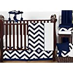 Sweet-Jojo-Designs-11-Piece-Navy-Blue-and-White-Chevron-Zigzag-Unisex-Baby-Bedding-Zig-Zag-Boy-or-Girl-Crib-Set-Collection-Without-Bumper