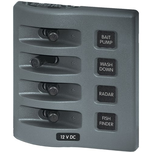 Weatherdeck Panel - BLUE SEA SYSTEMS 4305 / Blue Sea 4305 WeatherDeck® 12V DC Waterproof Switch Panel - 4 Posistion