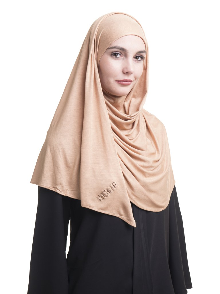 Kashkha Women's Ready To Wear Instant Hijab Scarf Black FLWSHBARTWSRKP1335L