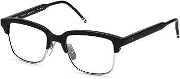 c4a6313b071 THOM BROWNE TB 709 A-BLK-SLV Matte Black-Silver Eyeglasses
