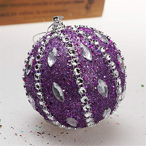 Christmas Tree Decoration Christmas Ball Ornaments Decoration Tree Balls for Holiday Wedding Party Decoration (8cm in Diameter) (Purple) by TLT Retail (Image #2)
