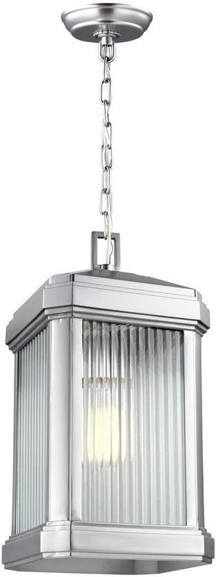 Sea Gull Lighting 6247431-753 Gaelan Outdoor Pendant, 1-Light 75 Watts, Painted Brushed Nickel