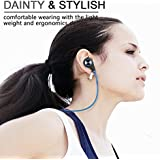 Bluetooth Headphones, HCcolo Wireless Bluetooth Earbuds Headset Earphones Noise Cancelling,Running, Exercise,Hiking Sports;Sweatproof. Suitable for IOS & Android Devices-(Blue)
