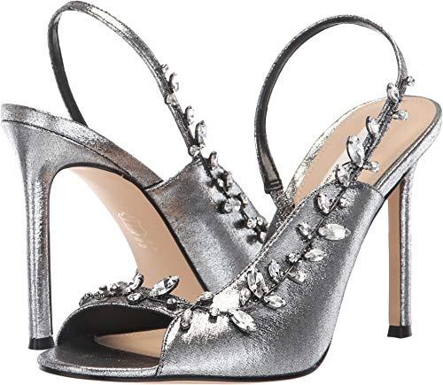 Heels Metallic Nina (NINA Women's Deanne Gunmetal 2 Metallic Fabric 6 M US M)