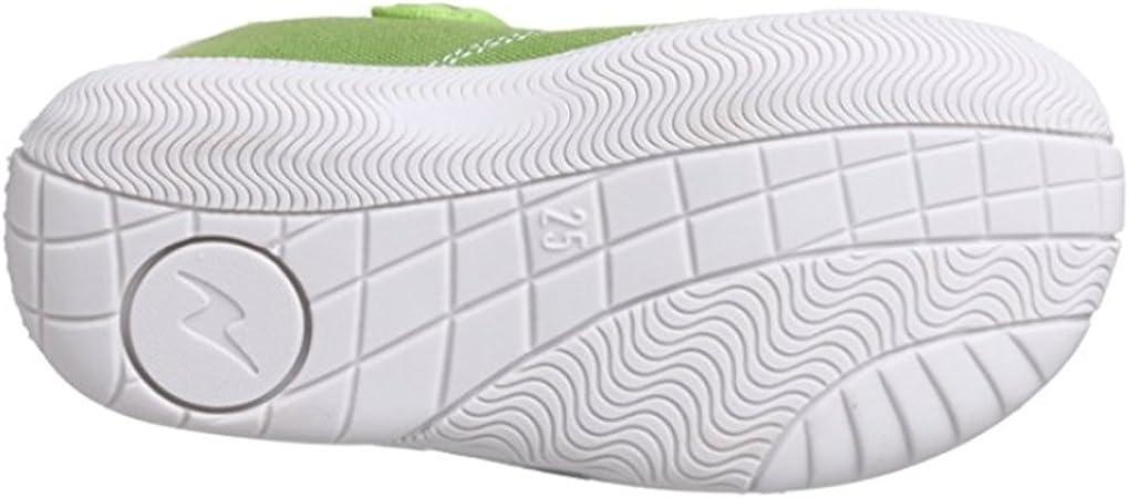 Naturino Girls 7742 Green Canvas T Strap Sneaker