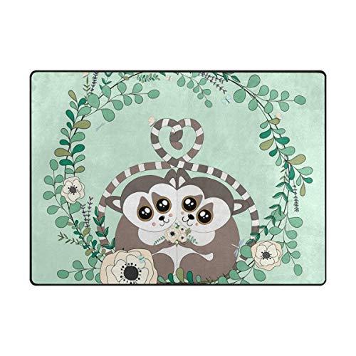 GreaBen Cute Lemur in Flowers Wreath Kids Area