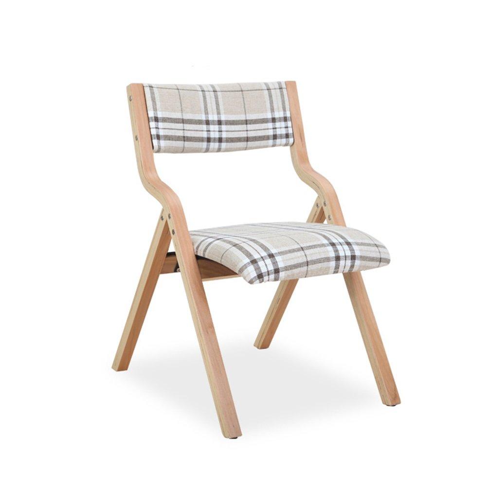 Solid Wood Folding Chair/Stool Fabric Folding Work Stool/Chair Home creative Foldable Meditation Chair/Stool (Color : BLUE) Qiao-Folding chair