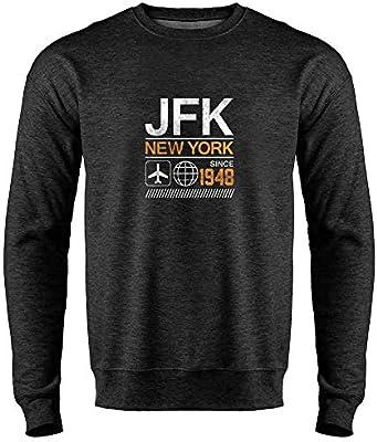 JFK Airport Code New York Since 1948 Travel Mens Fleece Hoodie Sweatshirt