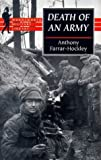 Front cover for the book Death of an Army by Anthony Farrar-Hockley