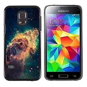 Stuss Case / Funda Carcasa protectora - Galaxy Space Dust Gas Stars Cluster Yellow - Samsung Galaxy S5 Mini, SM-G800, NOT S5 REGULAR!