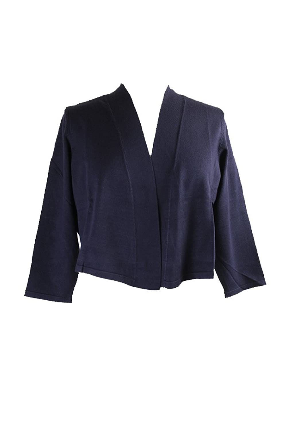 Charter Club Plus Size Navy /-Sleeve Cropped Cardigan X