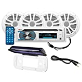 Boss Audio Systems MCK508WB.64S Bluetooth CD/MP3/USB/SD Am/FM Marine Receiver / Speaker Package
