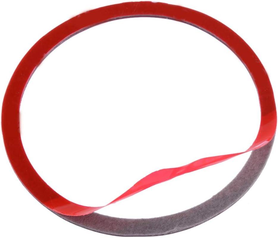 beler 2Pcs Red Carbon Fiber Door Speaker Ring Panel Cover Trim