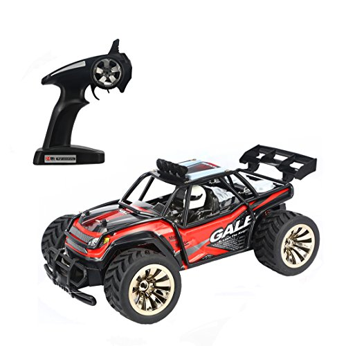 iTavah Electric Rc Car, 1:16 50M 2WD 2.4Ghz Remote Control Racing Buggy Cars, High Speed RC Off Road Monster Truck (Red)