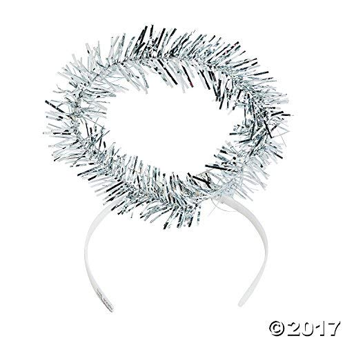 Fun Express Plastic Tinsel Angel Halos (1 dz) -