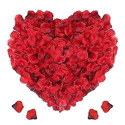 Punvot Rosenblätter Deko, 3000 Stück Rosenblüten Künstliche Rosenblätter Rot Rosen Blätter Blüten Kunstblumen…