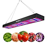 LED Plant Grow Lights Panel Venesun 100W Plants Growing Lamps Full Spectrum Long Bar Aluminum Made Hydroponics Plant Hanging Kit for Indoor Greenhouse Germination,Vegetative&Flowering