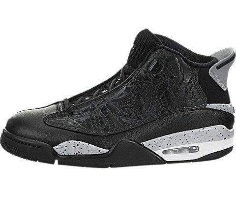nike-jordan-mens-air-jordan-dub-zero-black-wolf-grey-white-basketball-shoe-95-men-us