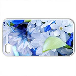 The color of the sky - Case Cover for iPhone 4 and 4s (Flowers Series, Watercolor style, White)