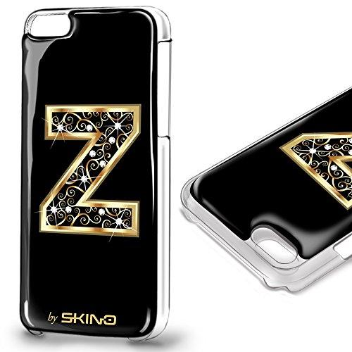 Skino™ Custodia Skin 3D Anti-Gravità Case Cover Resina Gel per iPhone 5 / 5s / 5 SE / 6/6 Plus / 6s / 6s Plus / 7/7 Plus Anti-Scratch Protezione 100% UV Antiscivolo Letter Gold Lettera Doro Z (iPhone