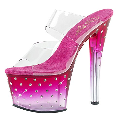 Pleaser Day and Night Pantolette STARDUST-702T