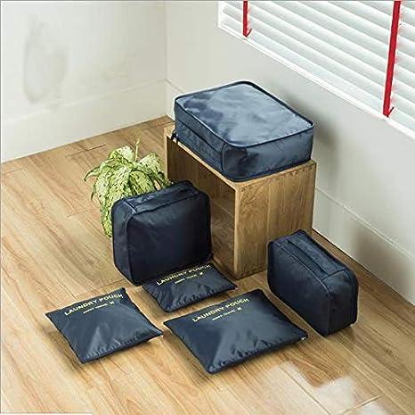 Amazon.com: Juego de 6 bolsas de viaje de nailon impermeable ...