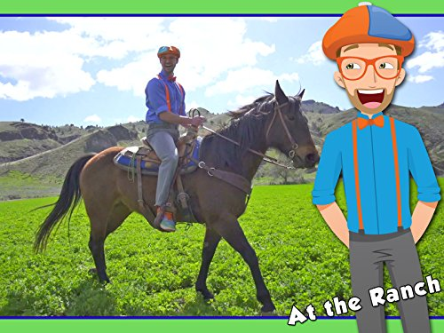 A Day On The Ranch for Kids with Blippi - Videos for Children (Best Uses Google Home)