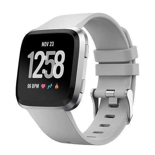 Correa para Fitbit Versa, Malloom Soft Silicona Pulsera de Reloj Deportivo Reemplazo para Fitbit Versa