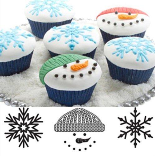 Autumn Carpenter Cupcake and Cookie Texture Tops (Christmas) - 1