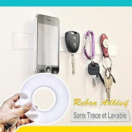 Ciaovie/™ Ruban Adh/ésif Sans Trace et Lavable (1m)