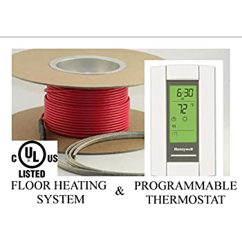 30 sqft cable set electric radiant floor heat heating for Electric radiant heat thermostat