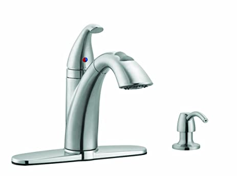 Design House 522847 Bellevue Kitchen Faucet with Soap Dispenser ...