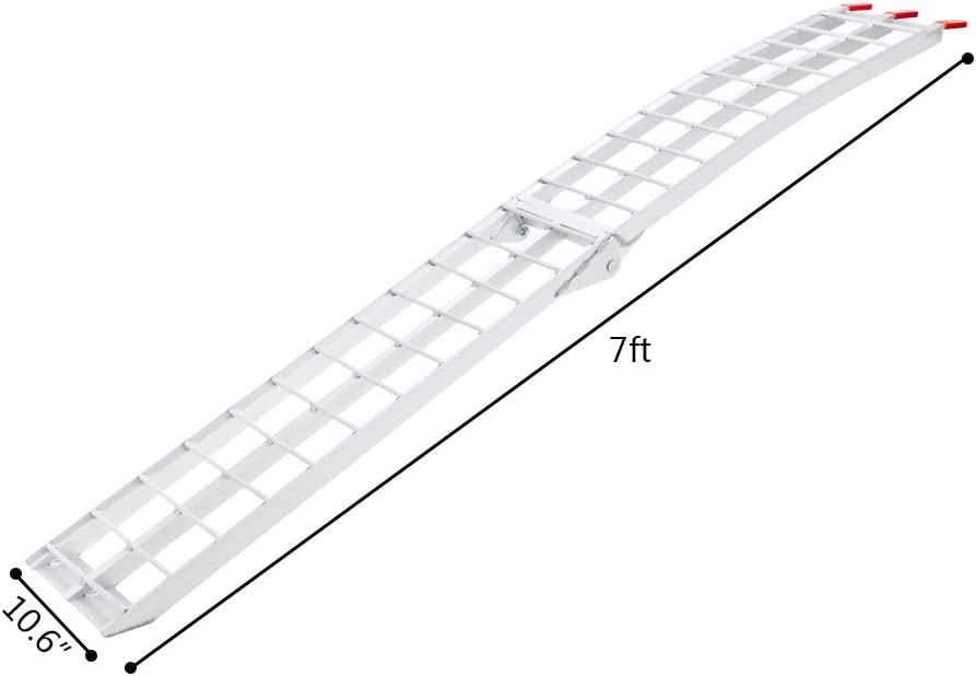 1pcs 7.5 Feet Aluminum Truck Ramps//ATV Ramps//Motorcycle Ramp//Loading Ramps for Lawn Mower//Pickup Trucks//Snow Blower 750lb Capacity