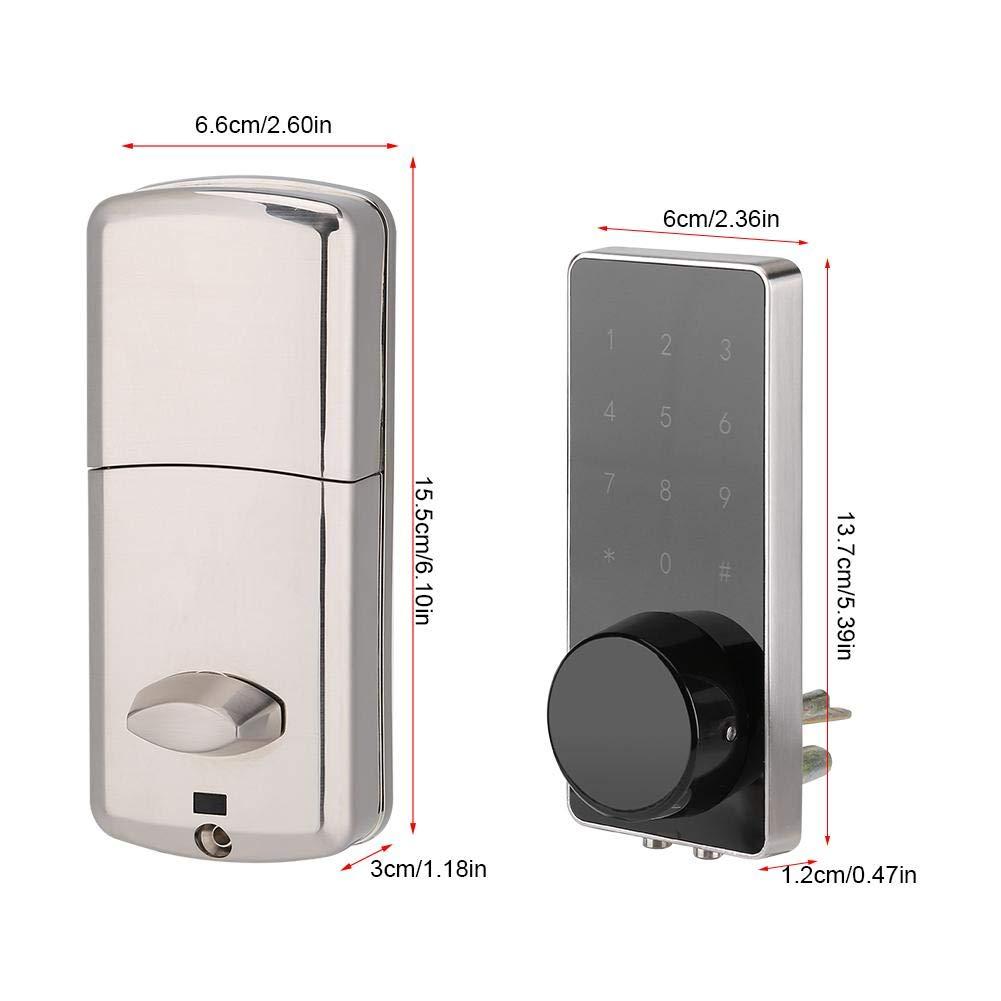 Contrase/ña electr/ónica Digital Bluetooth Juego de Cerradura de Puerta de Entrada con Llaves y Accesorios 3 Formas de desbloqueo Wosume Smart Lock