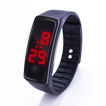 QIANGYUE Reloj Pulsera LED De Silicona, Pantalla Táctil Digital Creativa Fecha Reloj Deportivo Unisex,