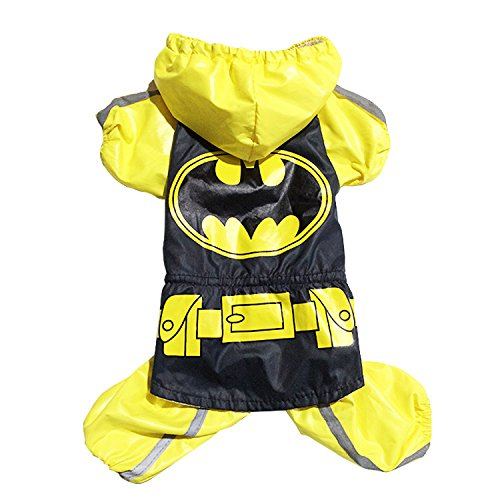 woolala Cute Batman disfraz de mascota Perro Chubasquero ...