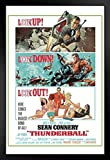 james bond vintage - Pyramid America James Bond Thunderball Portrait Movie Framed Poster 14x20 inch