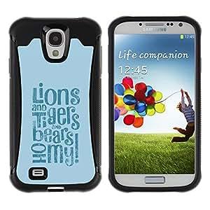 "Pulsar iFace Series Tpu silicona Carcasa Funda Case para Samsung Galaxy S4 IV I9500 , Lions Tigers Bears Oh Cita Fairytale Vida Positiva"""