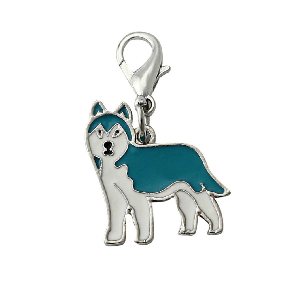Anboo Pet Dogs Collar Charms Necklace Pendant ID Tag Disc Disk Pet Identification Tags (Husky)