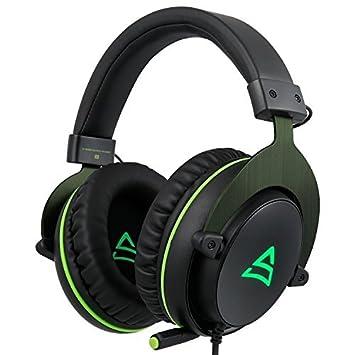 SUPSOO G817 Sonido estéreo envolvente Iluminación LED Auriculares para auriculares Auriculares con cable para PC Gamers con micrófono Cancelación de ruido y ...