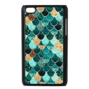 LeonardCustom Hardshell Snap On Slim Fitted Cover Case for iPod Touch 4 (4th Generation), Fashion Mermaid Scales