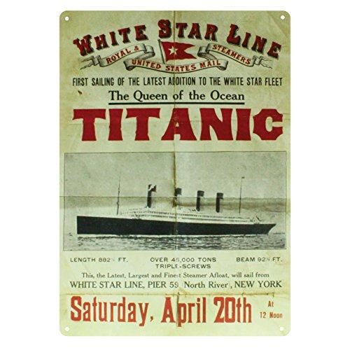 - Shamrock Gift Titanic Vintage Metal Sign - Return Sailing