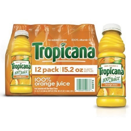 Juice Orange Bottle (Tropicana Orange Juice - 12/15.2 oz. bottles by Tropicana)
