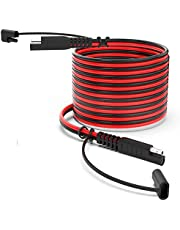 Camisin 15Feet SAE to SAE Extension Cable, Quick Connect Disconnect SAE Power Cable Wire Harness 14AWG with Dust Cap