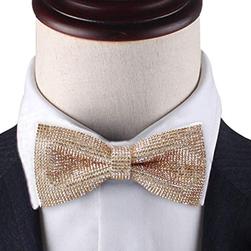 e60c94f04b2a Amazon.com: Rose Gold bow tie, Rose gold Rhinestones bow tie, Sparkle Rose  gold pre-tied bow tie for men, Dream Up Idea: Handmade