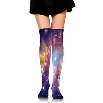 zengjiansm Calcetines Altos Knee High Novelty Socks Galaxy Womens Work Stance Over Thigh High Stockings Outdoor