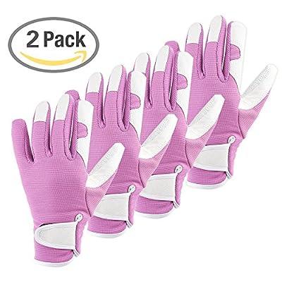 eBoot Ladies Gardening Gloves Garden Work Gloves for Garden and Household Tasks
