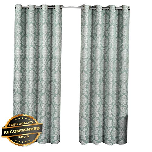 Gatton Aryanna Set of 2 Floral Grommet Top Panel 100% Polyester Jacquard Window Curtain | Style WNDWSCURT-01120191 | 54 W x 108